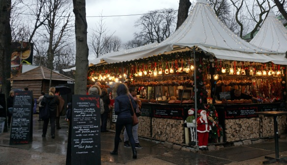 Christmas market at the Champs Elysees
