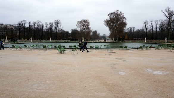 The Jardins des Tuileries, favorite summer hang out of Parisiens.