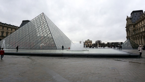 The Louvre Pyramid - we took a nice, long stroll!